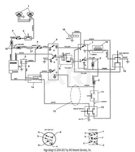 ariens   ytg hp tec gear  deck parts diagram  electrical ytg