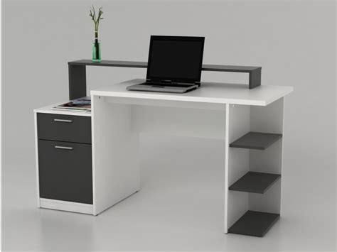bureau of bureau met opbergruimtes zacharie wit en grijs