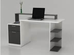 bureau bureau bureau met opbergruimtes zacharie wit en grijs