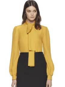Yellow Silk Blouses Women