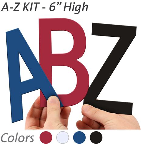 magnetic letters for signs 6 inch die cut magnetic letter kit in 4 color options 23530