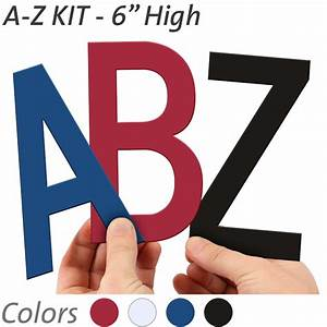 6 inch die cut magnetic letter kit in 4 color options With 6 inch magnetic letters
