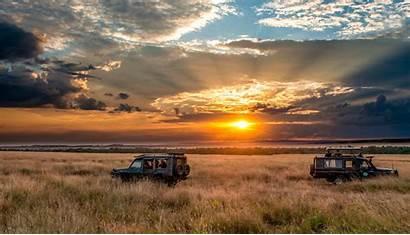 Safari Africa Sunset Sky Horizon Wallpapers Desktop