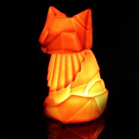 origami woodland animal lamps