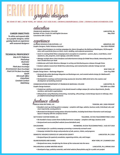 creative and extraordinary resume for any