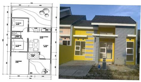 desain  denah rumah sederhana  biaya murah ndik