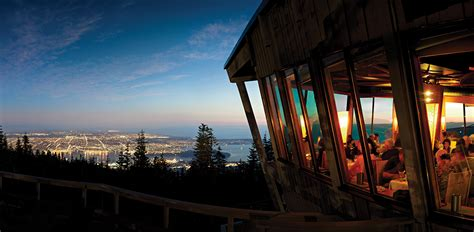 cuisine chalet the observatory restaurant grouse mountain the peak of vancouver