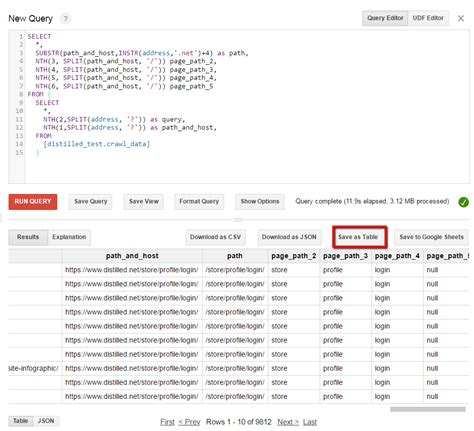 Explain Seo With Exle by How To Use Bigquery For Large Scale Seo Or Whenever Excel