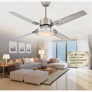 No ceiling lights in bedrooms : Inch remote control ceiling fan lights led bedroom