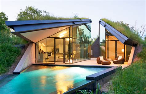 stunning images bermed home plans bercy chen studio s green roofed edgeland house transforms