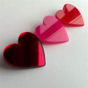Acrylic Love Heart Brooch By Twiggd