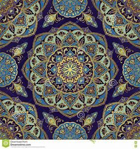 Bettwäsche Orientalisches Muster : orientalisches muster in den blauen farben vektor abbildung illustration 72035360 ~ Whattoseeinmadrid.com Haus und Dekorationen