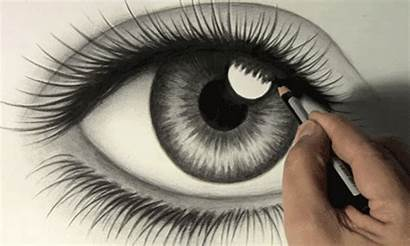 Eye Drawing Pencil Eyes Draw Giphy Drawings