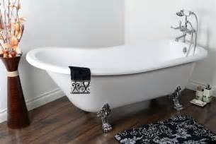 beispiele badezimmer 69 acrylic slipper clawfoot tub w deck mount faucet package polished chrome ebay
