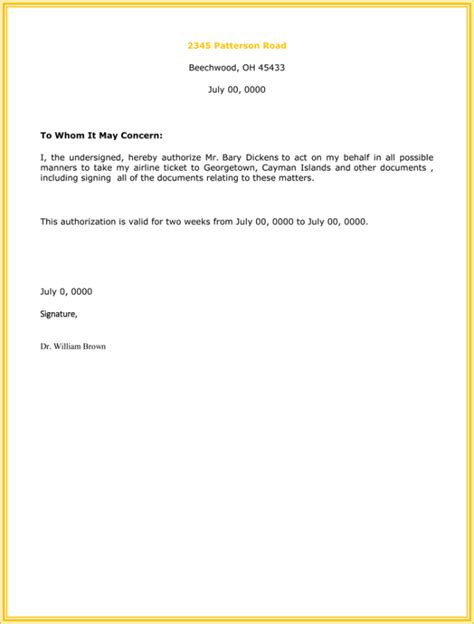 authorization letter  collect certificate
