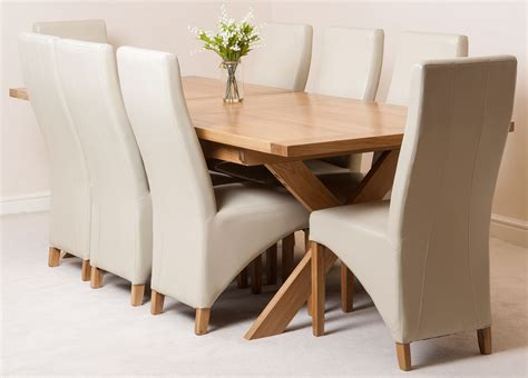 vermont extending kitchen solid oak dining table and 8