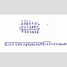 Adding Hexadecimal Numbers Youtube