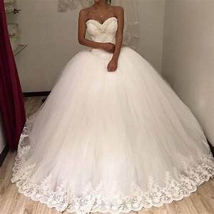 new arrival white ball gowns wedding 2016 sweet tulle With puffy princess wedding dresses