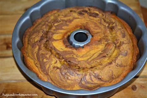 pumpkin chocolate marble bundt cake hugs  cookies xoxo