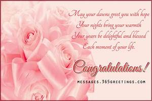 Wedding congratulation greetings 365greetingscom for Wedding cards sayings congratulations