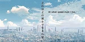 photoset 1k snow anime 2k 5 Centimeters Per Second anime ...