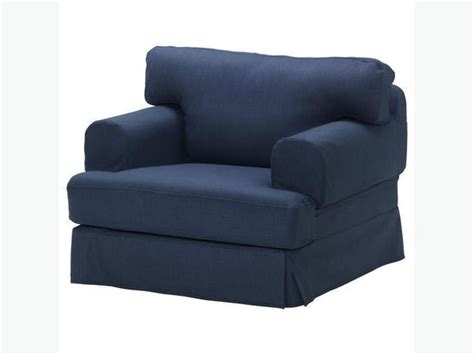 Ikea Hovas Armchair Cover- Kallvik Dark Blue (slipcover