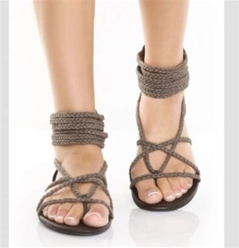 shoes sandals holidays brown shoes open toes rope
