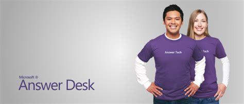 microsoft answer desk microsoft launches answerdesk for quot premium quot tech