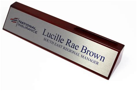 custom desk name plate card holder business card holder desk sign solid wood desk signs