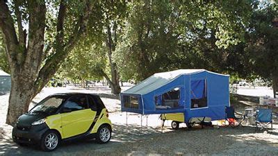 smart pop  tent  gas mileage    pulled   rav camping pop  tent