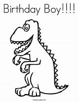 Coloring Birthday Boy Rex Pages Dinosaur Tyrannosaurus Printable Print Nanny Happy Boys Skeleton Cards Built California Usa Twistynoodle Getdrawings Getcolorings sketch template