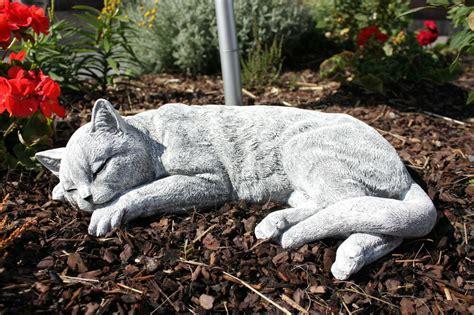 Stein Deko Für Garten by Steinfigur Katze Schlafend Gross Frostfest Gartenfigur