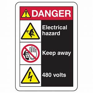 ANSI Multi-Message Safety Signs - Danger Electrical Hazard ...