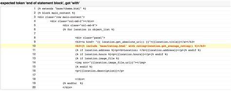 comment block django template python error while converting django template engine to