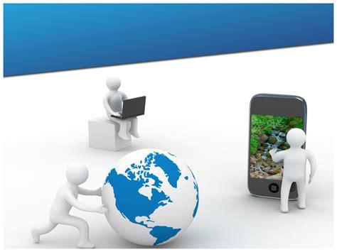 communication technology powerpoint template