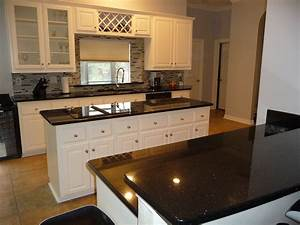 love black and white kitchens--Black Galaxy Granite ...