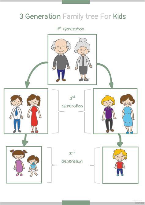 generation kid family tree template  microsoft word
