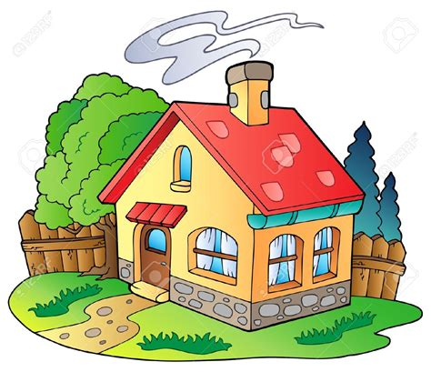 Village Clipart Home And Family  Pencil And In Color