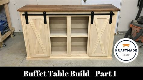 how to make a buffet cabinet buffet table build part 1 the base cabinet kraftmade