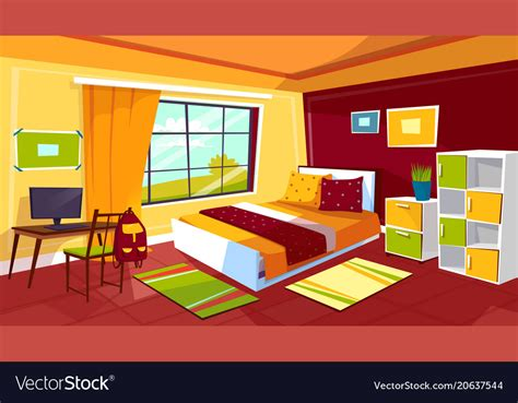teenager bedroom cartoon  royalty  vector image