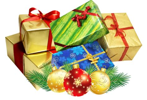 christmas present group transparent background