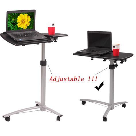 adjustable portable laptop table stand laptop rolling desk adjustable tilt stand portable caster