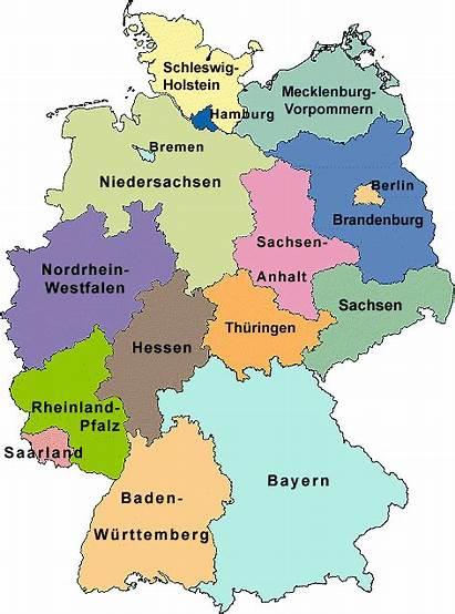 Germany States German Federal Map Deutschland Capital