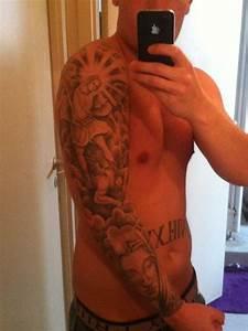 tattoo sleeve | Religious sleeve tattoo | Heaven tattoos ...