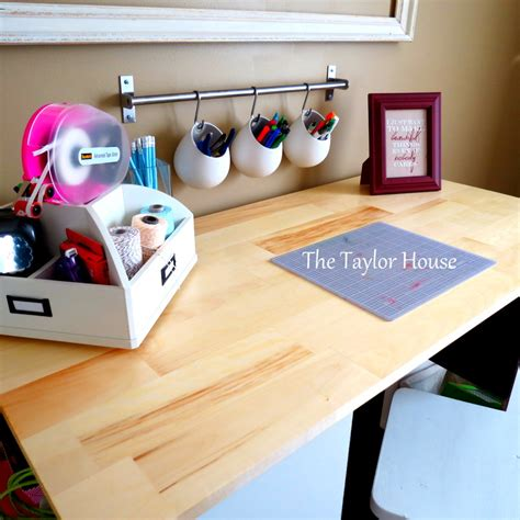 Fillable Craft Table L by Diy Inexpensive Craft Table With Storage The House