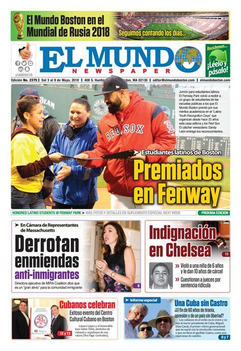 El Mundo Boston Newspaper May 3 2018 by El Mundo
