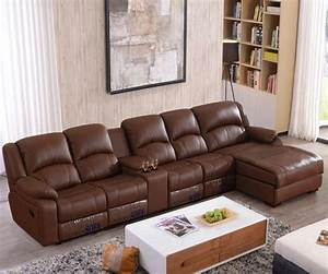living room sofa recliner sofa cow genuine leather sofa With what shape coffee table with sectional sofa