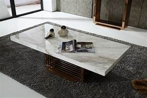 modern marble top and rosegold base coffee table fort With white marble and wood coffee table