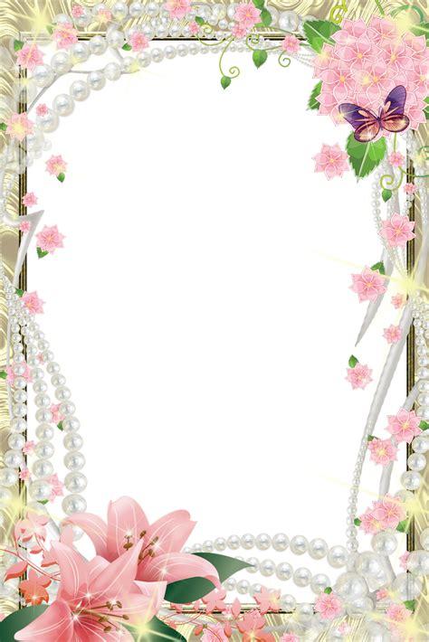 8 Flores Para Photoshop PNG Images Border Frames for