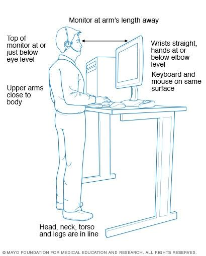 doctors note for standing desk standing workstation what you need to know mayo clinic